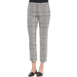 Theory Rhythm Printed Cropped Pants in Black/White